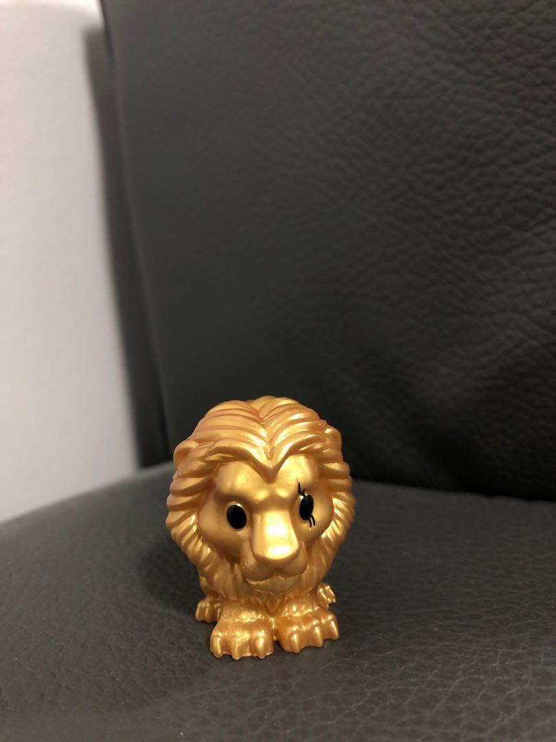 Golden Lion King Ooshies (Pumba, Rafiki, and Scar)