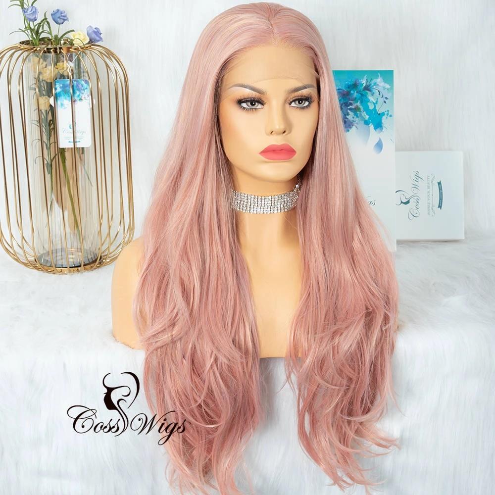 Lacefront Wavy Shrimp Pink Wig