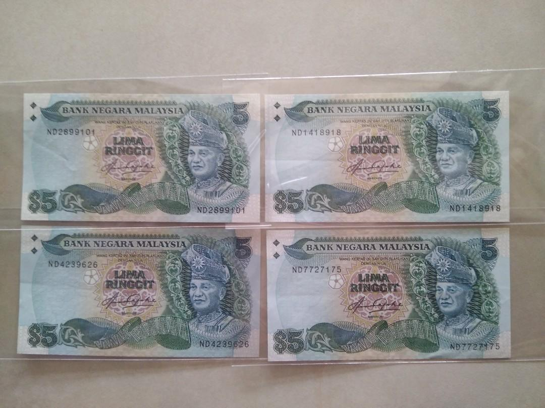 Folder Malaysia 2012 New Series Banknote RM1 /& RM5 Ringgit UNC