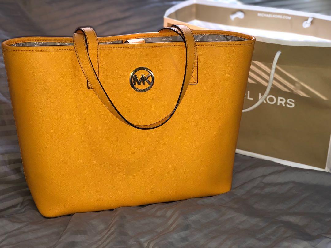Michael Kors Vintage Yellow Tote Bag (Barely Used)