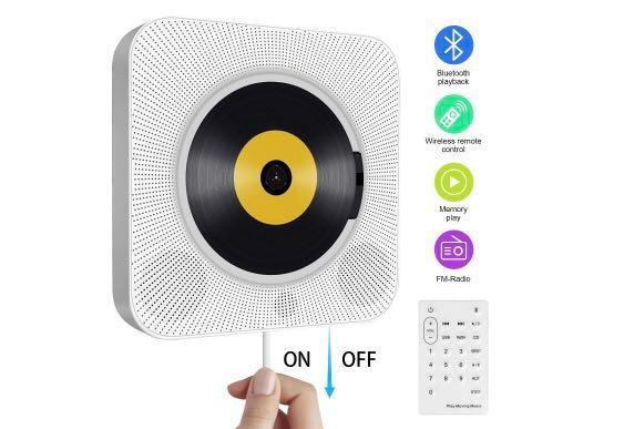 New Portable CD Player wall mountable with Bluetooth and HiFi Speakers