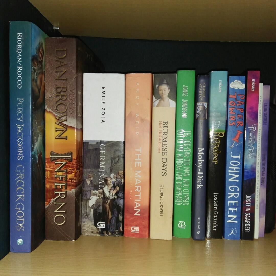 Novel Preloved, Bagus dan Murah (Beberapa ada yang masih segel)