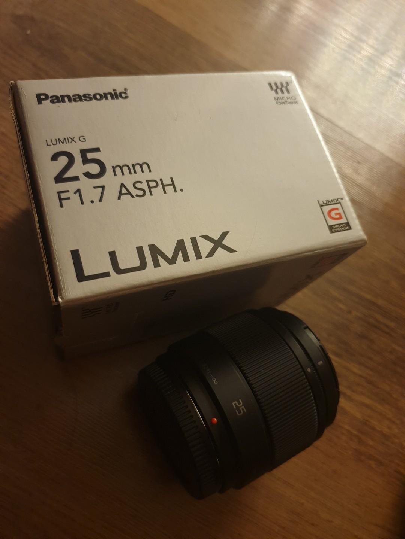 Panasonic Lumix brand 25mm F1.7 lenes