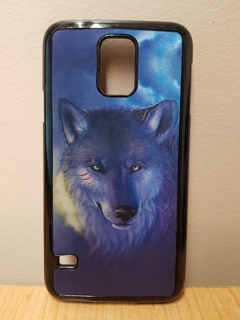 Samsung galaxy S4 S5 S6 protective phone 3D case wolf blue