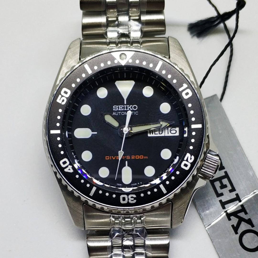 Seiko Automatic Scuba Divers 21 Jewels 200M SKX013K2 SKX013K SKX013 Men's Watch