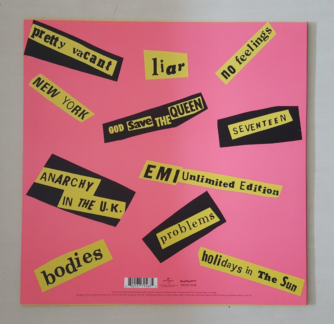 Sex Pistols Vinyl Record LP