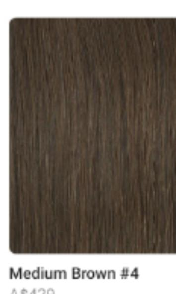 Sitting pretty halo hair extensions brand new medium thickness in medium brown