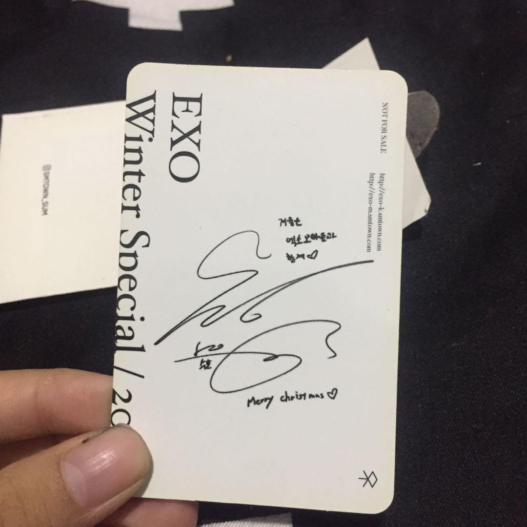 [ WTS ] SUHO EXO FOR LIFE PHOTOCARD ❄️