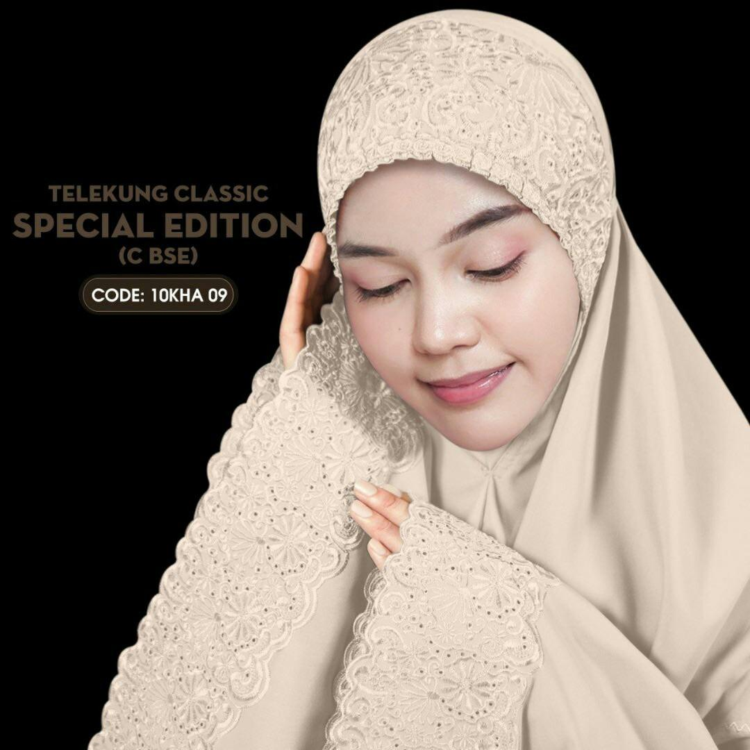 Telekung Lace sulam special edition