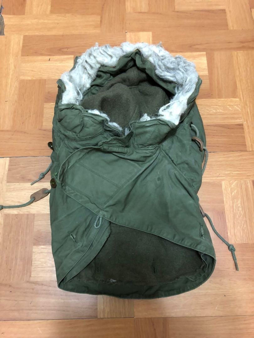 Vintage US ARMY M65 Park Hood 美軍公發化纖帽