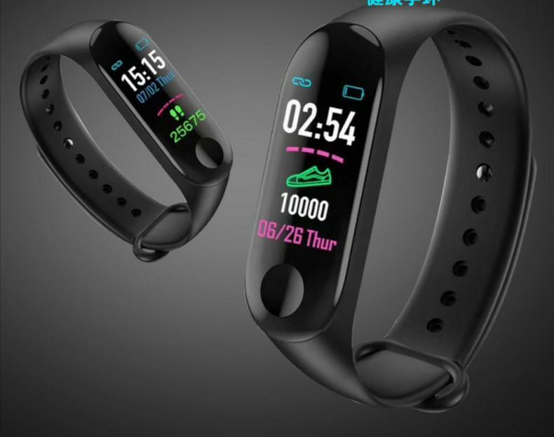 Waterproof Heart Rate Blood Pressure Calorie Step Counter Smart Bracelet Wristband Fitnesstracker