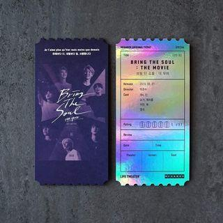 BTS BRING THE SOUL: THE MOVIE INSPIRED TICKET