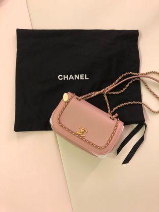 Chanel 粉色拼接包,本人超美,9.8新,4月購15萬