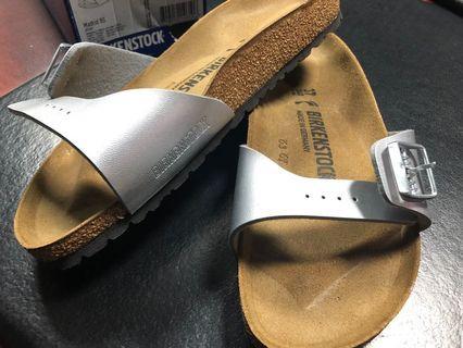 Birkenstock Madrids for Sale - Silver Leather s37