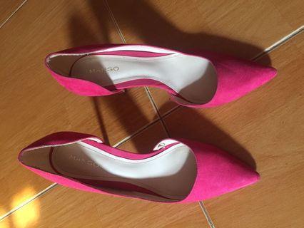 Mango heels pink