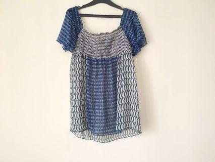ZARA TRF graphic blouse (see through) #ramadansale