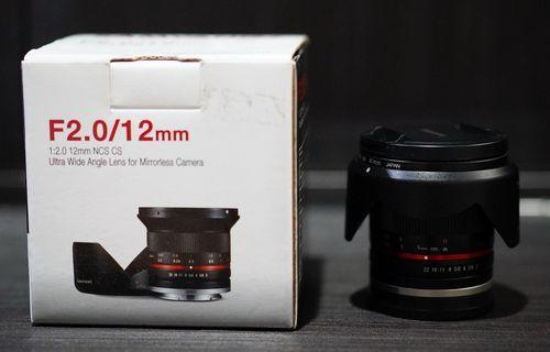 SAMYANG 12mm f/2.0 NCS CS lens - Sony E-Mount APSC Wide lensa