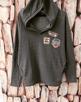 Grey jacket hoodie import