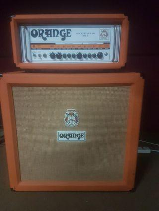 Orange rockerverb 100 MKii and PPC Compact 4X12 cabinet