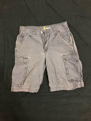 🇺🇸美線Carhartt RELAXED FIT 30腰六口袋工裝短褲 水洗藍