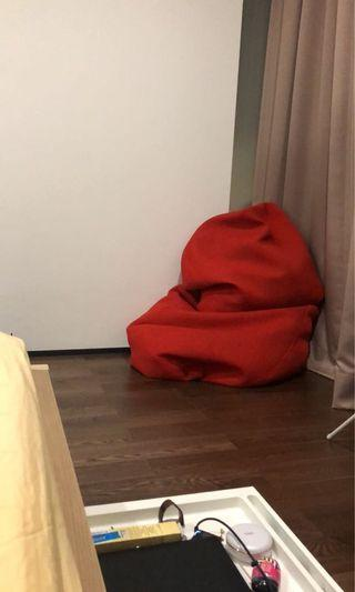 Red beanbags
