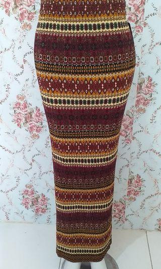 Rok plisket batik premium