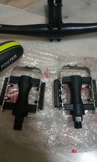 Saddle Foxter dan Padle aluminium Original Foxter MTB