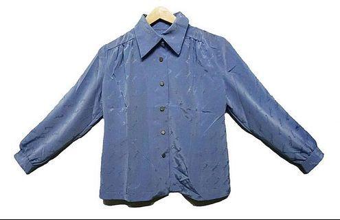 #RamadanSale Baju Import Murah - kemeja / Baju biru vintage