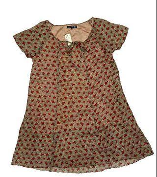 #RamadanSale Baju import Murah - blouse / baju Flower / minidress bunga