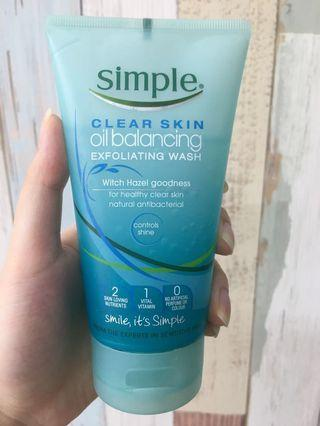 SIMPLE Exfoliating Cleanser (Scrub) #1010