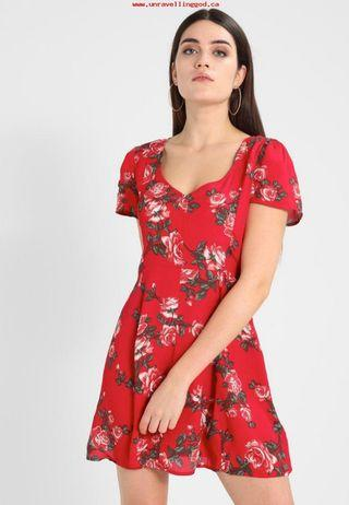 Miss Selfridge Red Skater Dress