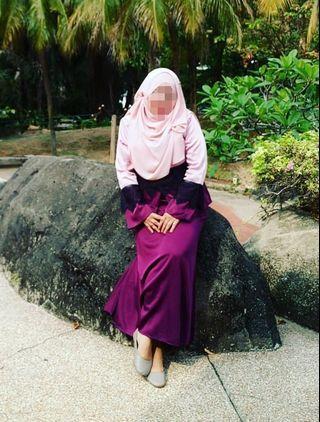 KHAILLIE Baju Kurung Saloma Style 💕
