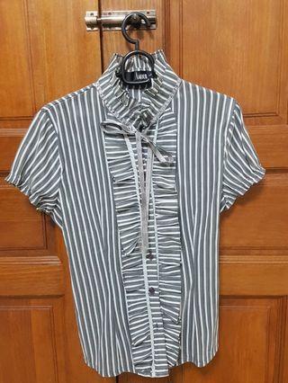 #18sale Stripes Office Wear (Grey)