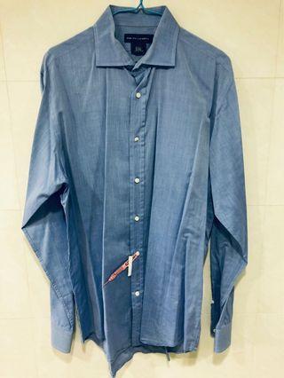 ✨ 全新黑牌 義大利製  RALPH LAUREN 藍色襯衫 / 50