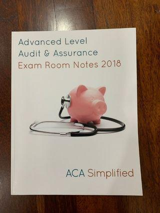 ACA Simplified Audit & Assurance Exam Room Notes