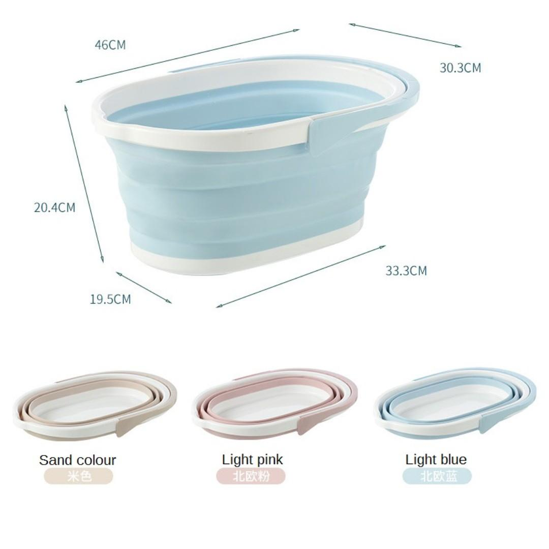 13Litre Foldable/Collapsible Pail/Bucket for Car Wash/Mopping/Gardening/Kitchen