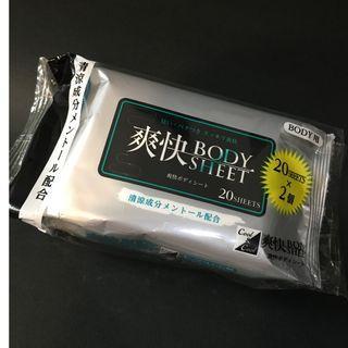 【全新降價】日本涼感濕紙巾(身體用) 20片 2包
