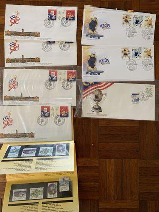 Sporting events in Msia first day cover and stamps