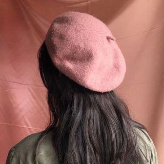 Pink Beret Hat