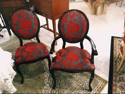 -現貨- 獨家引進 西班牙Toscano 絨布椅 扶手椅 餐椅套組 皇室典藏 -現貨不用等-