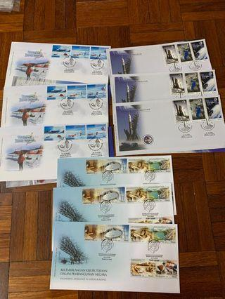 Achievement of Malaysia first day covers x9