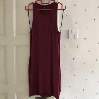 forever21 maroon bodycon dress