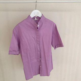 Kemeja ungu purple shirt baju kantor kerja