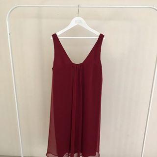 marron dress loose