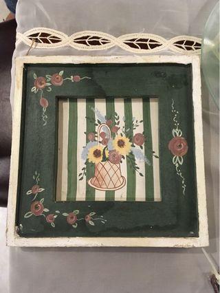 -現貨- 歐洲工藝 手工木雕花卉掛飾