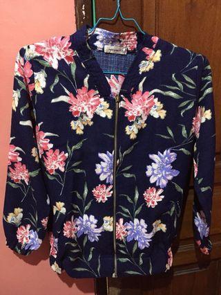 Flower jacket bomber sletting
