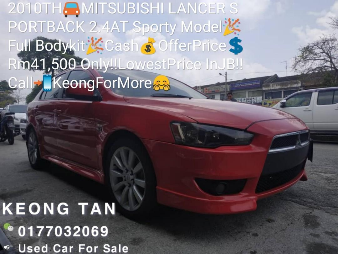 2010TH🚘MITSUBISHI LANCER SPORTBACK 2.4AT Sporty Model🎉Full Bodykit🎉Cash💰OfferPrice💲Rm41,500 Only‼LowestPrice InJB‼Call📲KeongForMore🤗