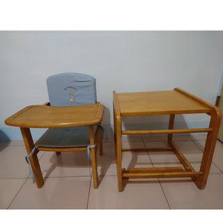 彼得兔木質兩用餐桌椅