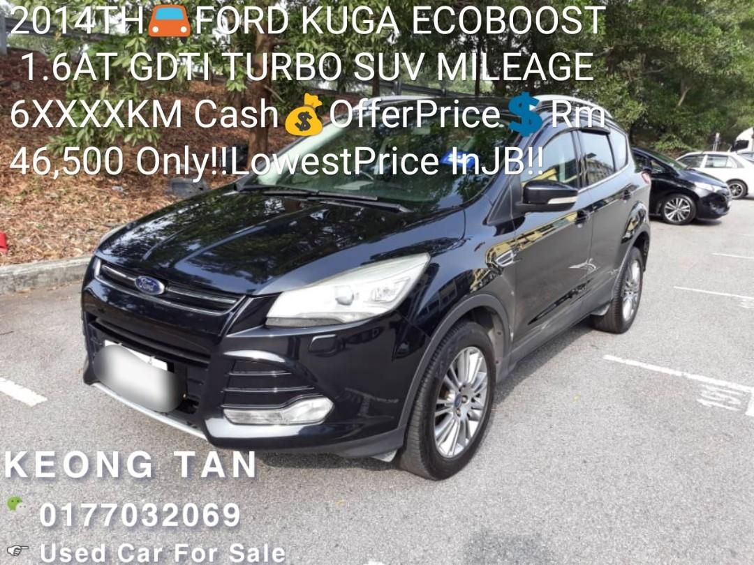 2014TH🚘FORD KUGA ECOBOOST 1.6AT GDTI TURBO SUV🎉Low MILEAGE 6XXXXKM Cash💰OfferPrice💲Rm46,500 Only‼LowestPrice InJB‼