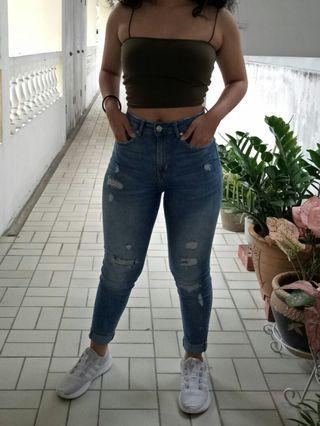 H&M Divided High Waist Jeans